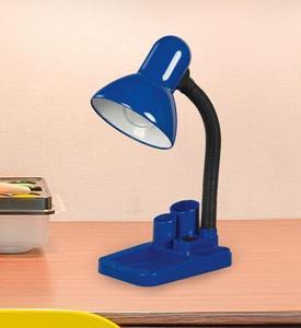Lámpara de Escritorio 1L azul con lapicero