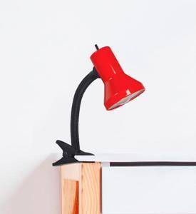 Lámpara de Escritorio 1L gancho rojo