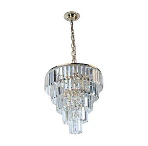 Lámpara colgante cristal 6 luces
