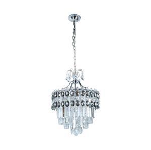 Lámpara colgante de cristal 5 luces
