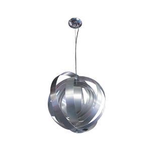 Lámpara colgante 1 luz cromo y plateado