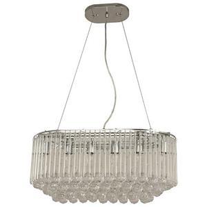 Lámpara colgante de cristal 6 luces