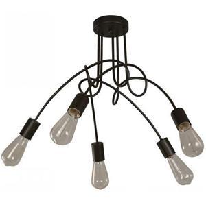 Lámpara de Techo 5L negra