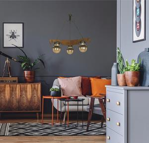 Lámpara Colgante 3L madera