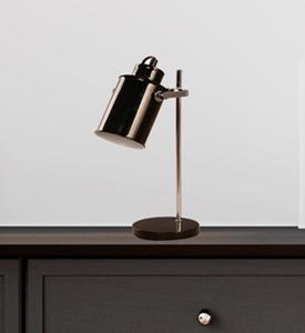 Lámpara de escritorio una luz negro