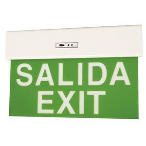 Lámpara de señalización para salida / exit
