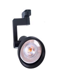 Lámpara de riel dirigible negra 1 luz