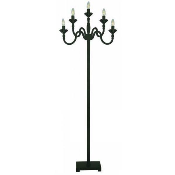 Lámpara de piso 5 luces