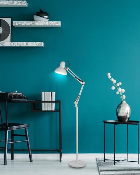 Lámpara de piso flexible