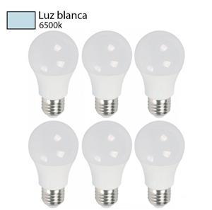 bombillos luz blanca 6 pack