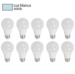 bombillo led luz blanca pack 10