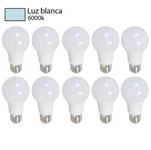 bombillo luz blanca pack 10