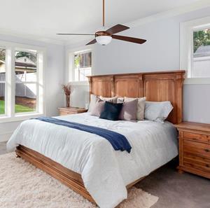 Ventilador de techo 4 aspas con lámpara