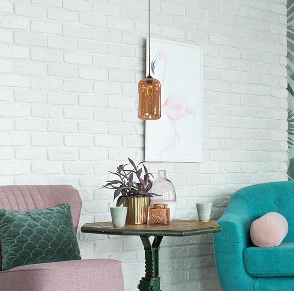 lámpara colgante de una luz vintage