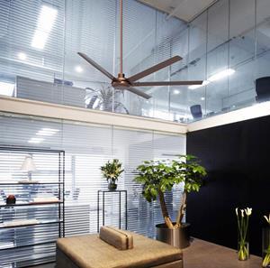 """Imagen de Ventilador de Techo Inverter Olimpo 102"""" níquel pulido"""