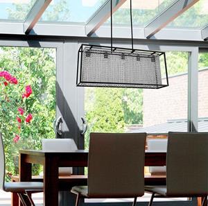 lámpara de techo 5 luces acero
