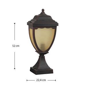 Lámpara poste exterior oxido