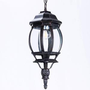 Lámpara colgante farol negra 1L