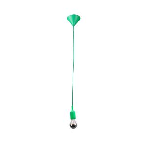 Lámpara-colgante-luz-verde socket