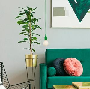 Lámpara colgante verde 1 luz