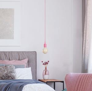 Lámpara colgante rosada 1 luz
