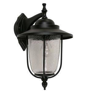 Lámpara pared farol exterior negr