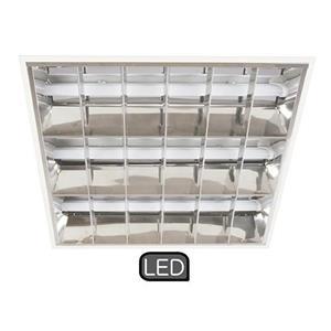 Imagen de LAMP. DE TECHO LED*3LTS*9W*100-277V*(LED TUBE INCLU.)*ACAB. EN BLANCO Y CROMO