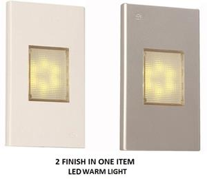 Imagen de LAMP. PARED LED*6LT*0.4W*100-265V*50/60HZ*3000K*ACAB. BLANCO Y PLATA
