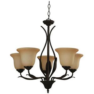 Imagen de LAMP. TECHO BRONCE 5L E27 60W