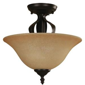 Imagen de LAMP. TECHO BRONCE 2L E27 60W