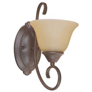Imagen de LAMP.PARED E27*1L*60W(N/B) ACAB. METAL FORJADO NEGRO