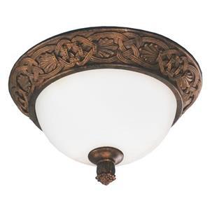 Imagen de LAMP. TECHO 2LTS*120V 60HZ*40W*(B/N)*E27*ACAB.CHOCOLATE CON DORADO