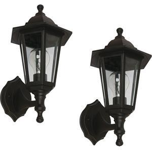Imagen de LAMP. EXT. PARED NEGRO 1L E27 60W 2 PIEZAS