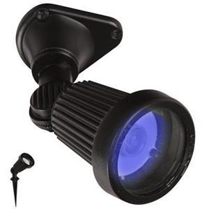 Imagen de LAMP. LED EXT. PISO NEGRO 1L 1W 120V LUZ AZUL CONVERTIBLE
