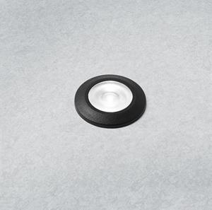 Lámpara de piso led negra