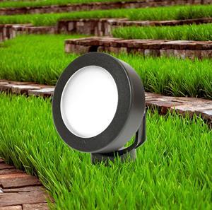 Lámpara de piso jardín negra 1L