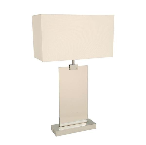 Lámpara de mesa blanca