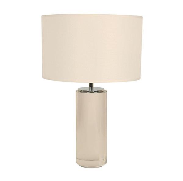 Lámpara de mesa cromo blanca 1L