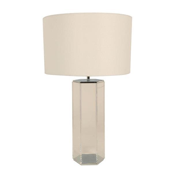 Lámpara de mesa cromo 1L