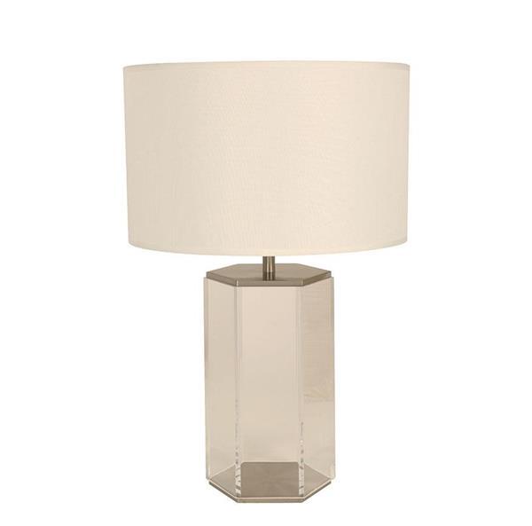 Lámpara de mesa 1L níque sat.