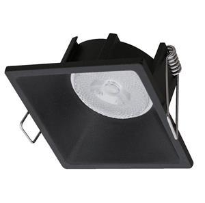 Lámpara empotrable negra