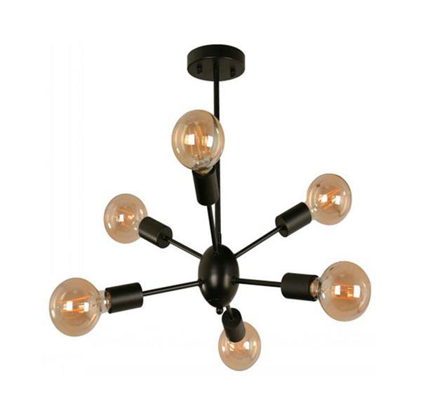 Lámpara de techo 6L negro