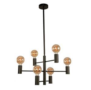Lámpara Colgante 6L negra