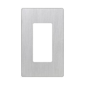 Imagen de Lutron Placa Decorativa de Pared 1-Gang Stainless Steel