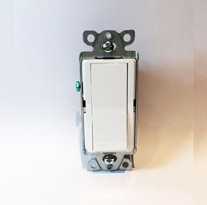 Imagen de Interruptor Lutron 15A 3 Vías Almendra claro