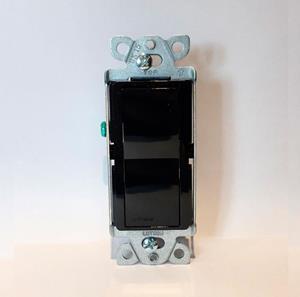 Imagen de Interruptor Lutron 15A Unipolar para usos Generales Negro