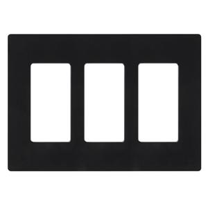 Imagen de Lutron Placa Decorativa de Pared 3-Gang negro