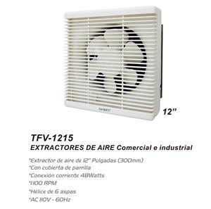 "Imagen de Extractor de Aire de Pared Sankey 12"" blanco / 1100 RPM (con parrilla)"