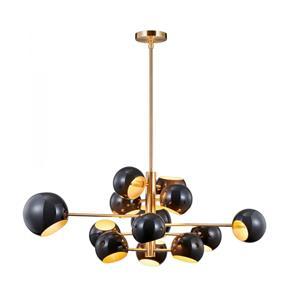 Imagen de Lámpara Colgante 13L negro y dorado
