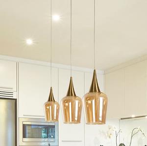 Lámpara de techo led 1L bronce 6w